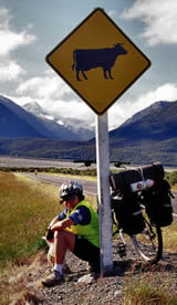 Cycling and Road Sign - Photographer: Roy Sinclair
