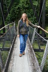 Swing bridge at Fox Glacier New Zealand