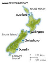 Map of New Zealand Cities
