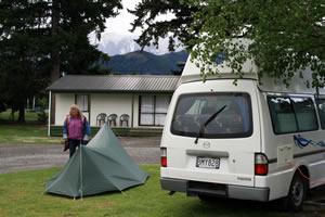 Campervan site at Hamner Springs
