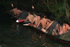 Mitai Maori Village War Canoe