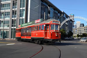 Auckland Dockline Tram - Photographer: Roy Sinclair