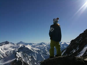 SnowSkool Snowboarding View, New Zealand