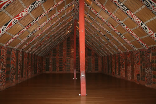 Maori Building Auckland Museum New Zealand