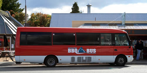 BBQ BUS at Te Anau, on the way to Milford Sound