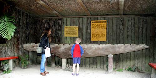 30ft Maori Canoe, Buried Village, Rotorua