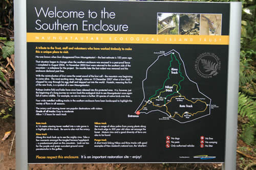 Southern Enclosure sign