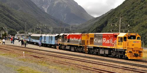 TranzAlpine Train Arthurs Pass, South Island - Photographer: Roy Sinclair