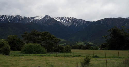 Southern Alps, South Island, NZ Travel, View from the East