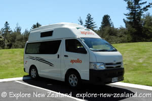 2-3 Berth Hitop Camper Van in Wai-O-Tapu Car Park New Zealand