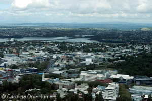 North Shore Auckland Suburbs Region from Central Auckland New Zealand