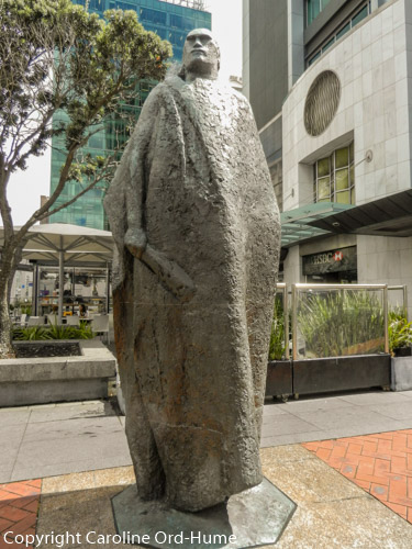 A Maori Figure in a Kaitaka Cloak, Sculptured by Molly Macalister, Auckland New Zealand