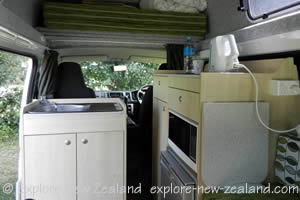 2 Berth Apollo Campervan Kitchen and Cooking Equipment - New Zealand