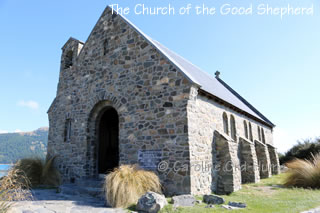 Church of the Good Shepherd Front and Doorway, Lake Tekapo