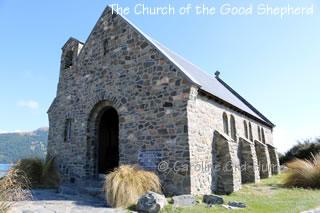 Church of the Good Shepherd Front and Doorway, Lake Tekapo