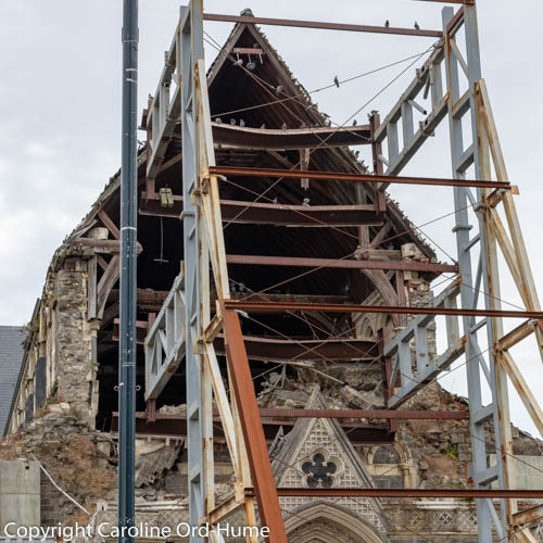 Christchurch Cathedral Damage Caused by the 2011 Earthquake in New Zealand