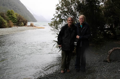 River in Beach Forest on the way to Milford Sound, Fiordland National Park, South Island
