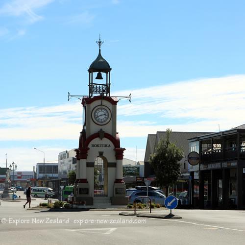 New Zealand Town, Hokitika Town Clock, South Island, New Zealand
