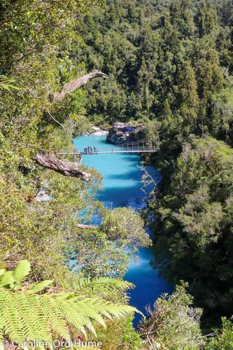 Hokitika Gorge Turquoise Water of Hokitika River and New Zealand Native Bush, West Coast, South Island