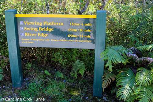 Hokitika Gorge Walk Distances, West Coast, New Zealand