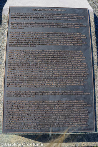 The Koiterangi Incident Memorial text plaque, Kowhitirangi, Hokitika, West Coast, South Island, New Zealand