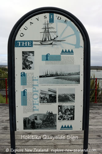 Hokitika Historic Quayside Sign, Hokitika Town, West Coast, South Island, New Zealand