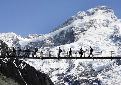 Hooker Valley Swing Bridge: Photographer Fraser Gunn