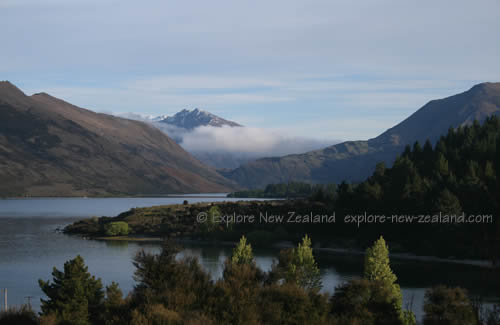 New Zealand Pictures Lake Wanaka View of Mountains and Mist