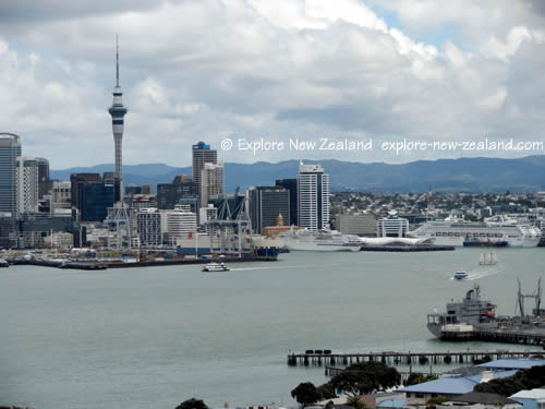 New Zealand Cities - Auckland City, Docks, and Skyline
