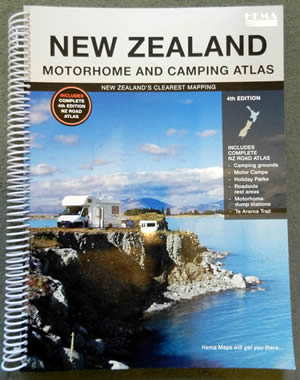 New Zealand Motorhome and Campervan Camping Road Map Atlas