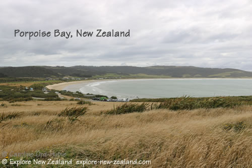 View over Porpoise Bay from Headland Car Park NZ