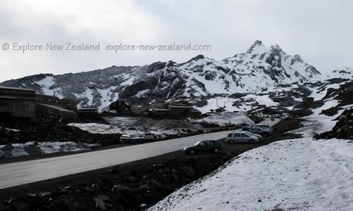 Road to the Ski Fields Tongariro and Ruapehu New Zealand