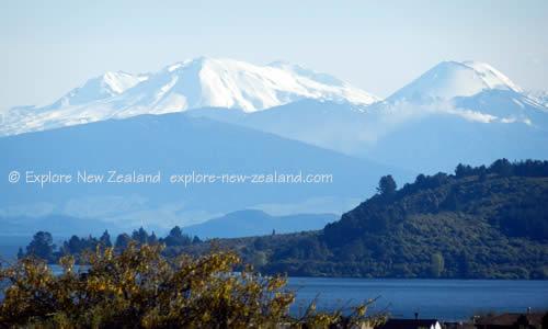 Snow Capped Mountains for Skiing Ruapehu Tongariro New Zealand