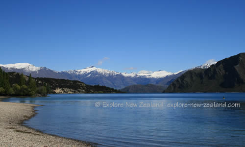 Snow Capped Mountains for Heli Skiing in the Wanaka Region of New Zealand