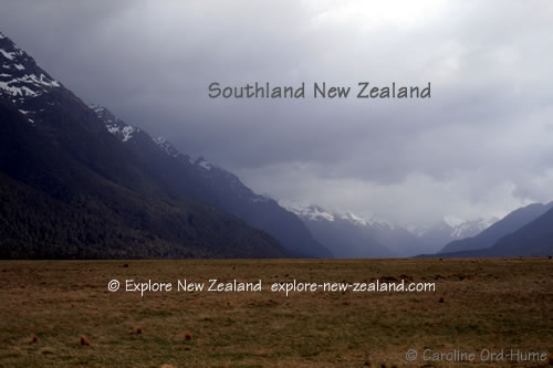 Milford Road View in Spring, Fiordland, Southland New Zealand