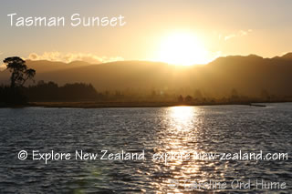 Tasman Sunset at Collingwood New Zealand