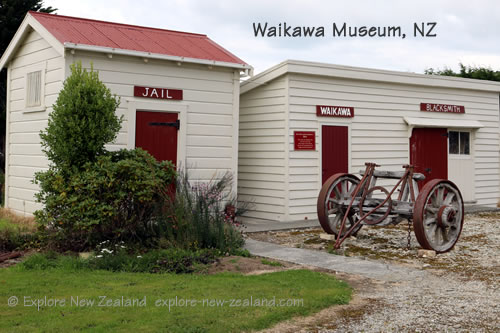 Museum Jail and Blacksmith Buildings at Waikawa, New Zealand