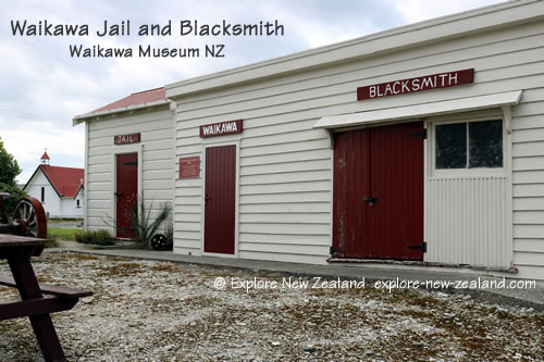 Waikawa Museum Jail and Blacksmith Buildings, Catlins, NZ