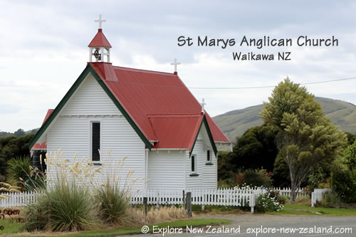 St Marys Anglican Church, Waikawa, Catlins, Southland, New Zealand