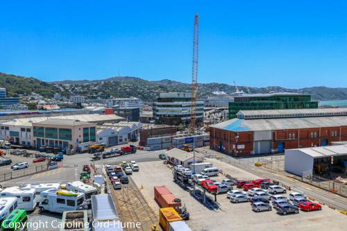 Wellington Transport New Zealand - Wellington City harbour car motorhome campervan parked