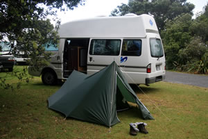 Camper Van, Punakaiki, Paparoa National Park, New Zealand