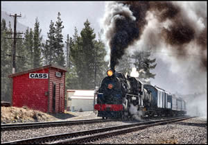 Train - Cass, South Island - Photographer: Roy Sinclair