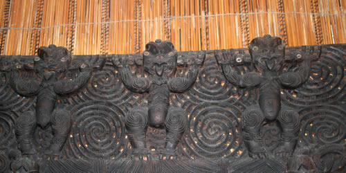 Maori Carving at Auckland Museum New Zealand