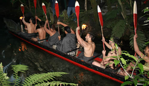 War Canoe, Mitai Maori Village, Rotorua, New Zealand