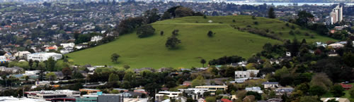 Mount Eden view of Auckland New Zealand