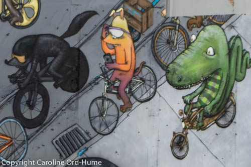 Example of wall Graffiti in Christchurch New Zealand, Street Art Cycles