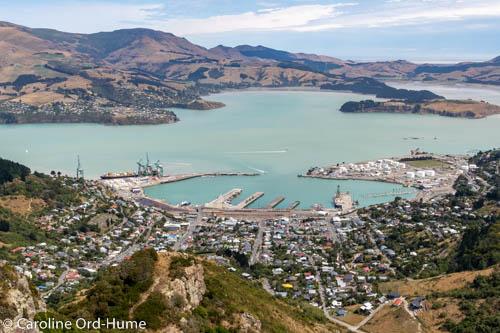 Lyttelton Port, Docks, and Lyttelton Harbour, Port Hills, Christchurch, New Zealand