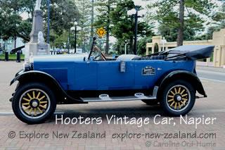 Vintage Car in Napier, Hawke's Bay, New Zealand