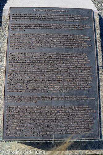 The Koiterangi Incident Memorial text plaque, Kowhitirangi, Hokitika, West Coast, South Island, New Zealand