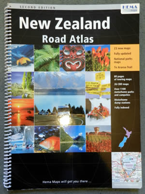 New Zealand Road Map Atlas